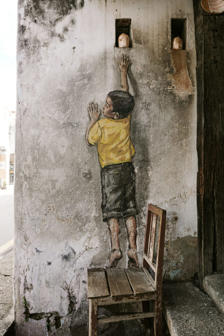 Penang Street Art Kid
