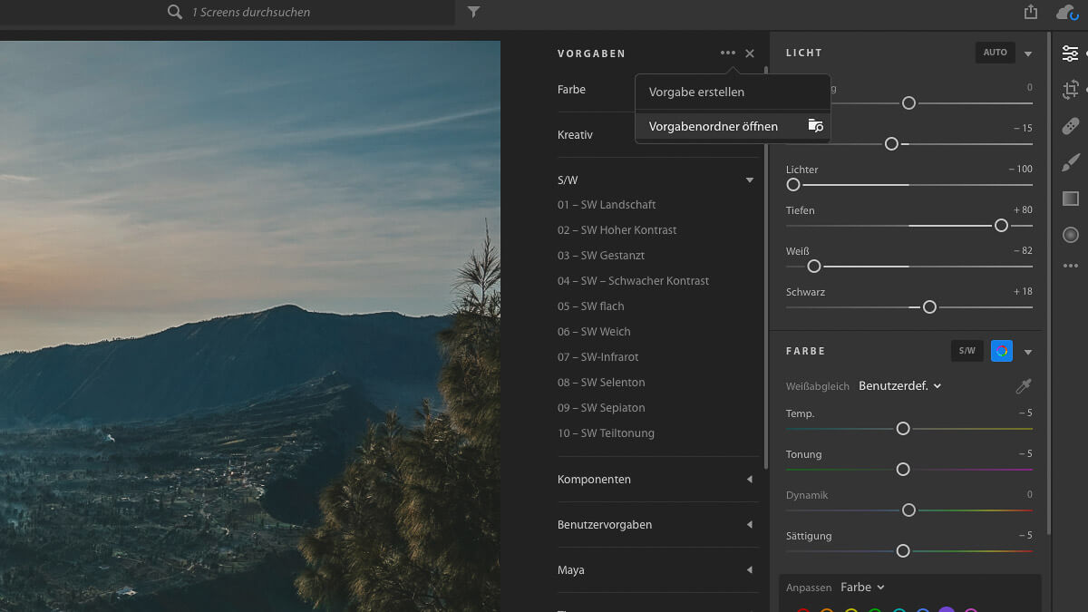 Lightroom CC Preset Installation Schritt 2