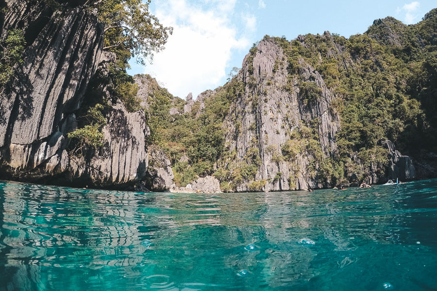 Coron Highlight - Twin Lagoon Felsformationen